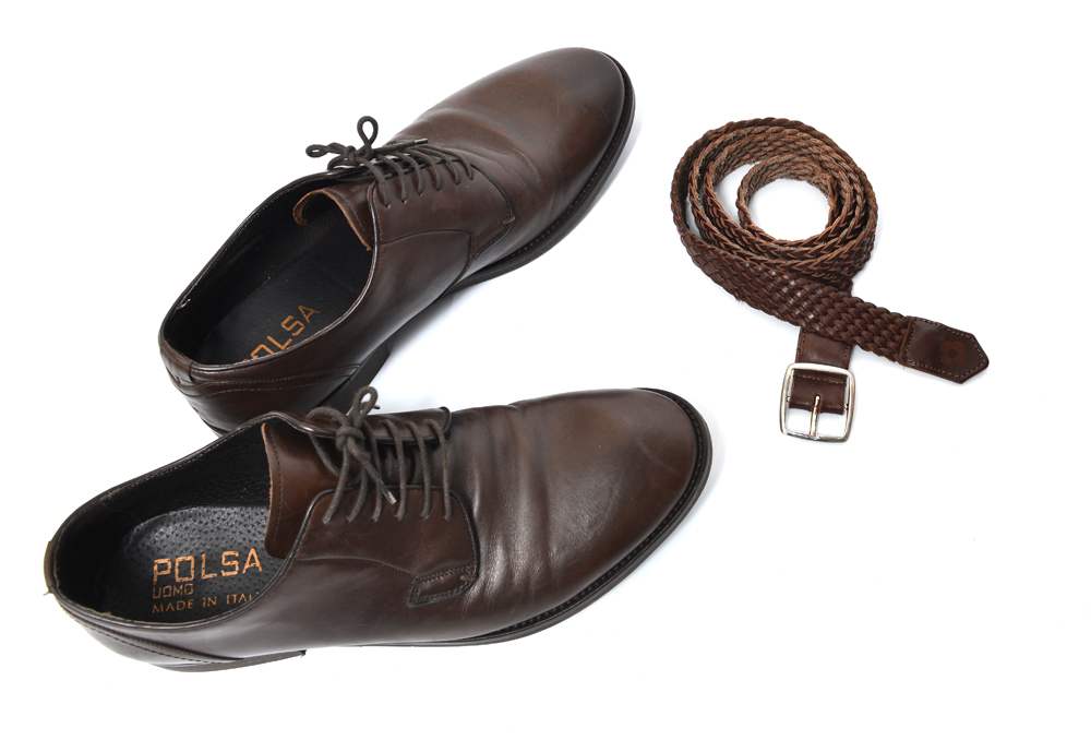shoe and belt