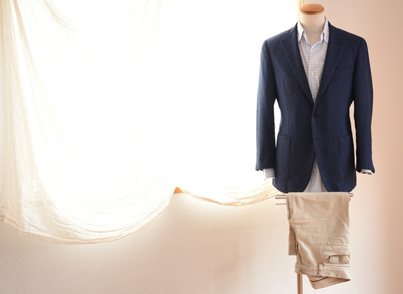 Raffael Caruso (Jacket) Sartoria Attolini (Shirts) Loro Piana (Pants)