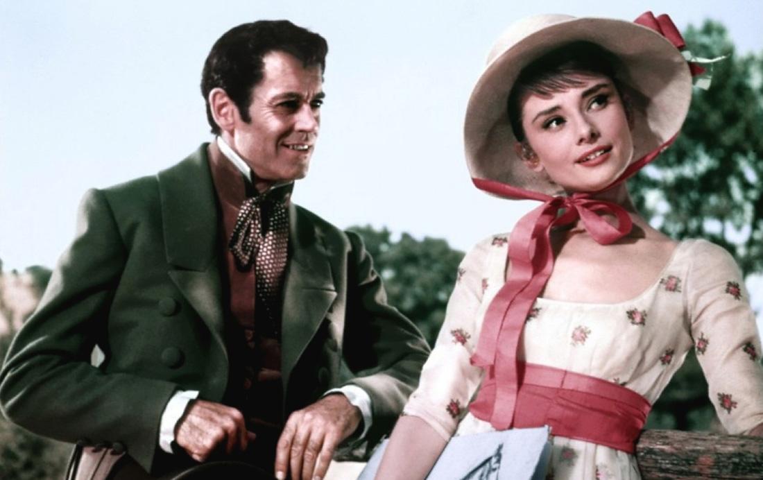 Audrey Hepburn, War and Peace (1956) starring Henry Fonda and Mel Ferrer