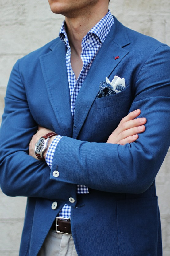 arms-crossed-isaia-sport-coat-checkered-plaid-blue-shirt-floral-pattern-pocket-square