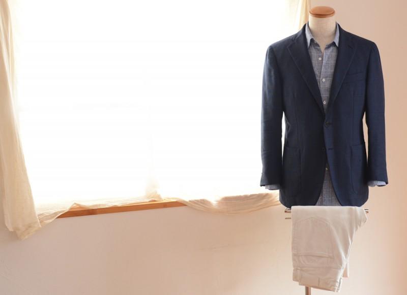 Raffael Caruso (Jacket) NORTON & SONS (Shirts) EDIFICE (Pants)